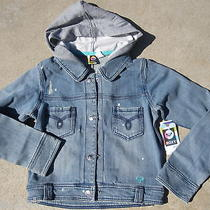 New Roxy Jean Jacket Coat Shirt Hoody 54 Girls Xl 16 Photo