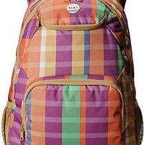 New Roxy Juniors Shadow Swell Printed Backpack Summery Madras Redwood Ml One S Photo