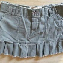 New Roxy Mini Skirt Size 1 Xs Cotton Khaki 40 Retail Photo