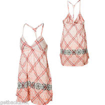 New Roxy White Orange Mini Sun Dress Bikini Cvrup 40 9 L  Photo