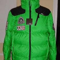 New S Mens Polo Ralph Lauren Down Puffer Coat Green Rlx Radial Expedition Italy Photo