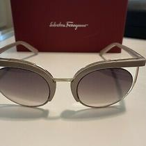 New Salvatore Ferragamo Sf909s Sunglasses Blushbrown Gradient Lenses Photo
