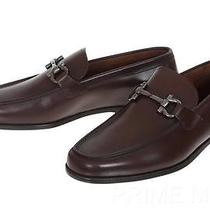New Salvatore Ferragamo Tuscan Men's Luxury Brown Leather Loafer Shoes 7/41eee Photo