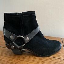 New Sam Edelman Landon Size 8 Black Suede Leather Western Harness Boots Photo