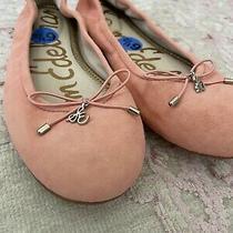New Sam Edelman Womens Felicia Ballet Flat Shoes Blush Pink Bow Slip on 6.5 Photo