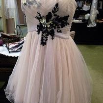 New Sample Blush Pink & Black Short Formal Homecoming Party Dress Size 13/14 Photo