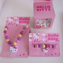 New Sanrio Hello Kitty - 1 Necklace 1 Bracelet 1 Pk 40 Tattoos  Photo