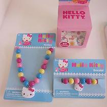 New Sanrio Hello Kitty - 1 Necklace 1 Bracelet 1 Pk 40 Tattoos B/2 Photo