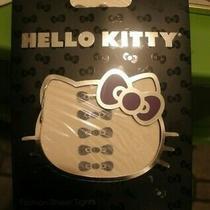 New Sanrio Hello Kitty Black Bow Pantyhose Nylons Tights Small Medium Photo