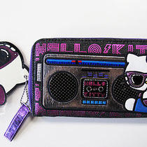 New Sanrio Loungefly Hello Kitty Long Wallet Kitty Black/punk Rock Glam Design  Photo