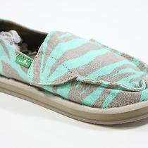 New Sanuk Girls Im Game 13 Zebra/aqua Photo
