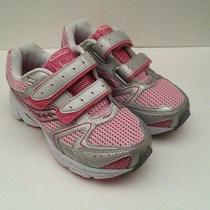 New Saucony Cohesion 5 Hl Pink/silver/white Girls Athletic Shoes Size 13w Photo