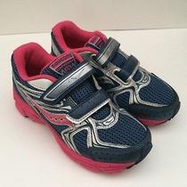 New Saucony Cohesion 6 Hl Navy/pink/silver Girls Athletic Shoes Size 13m Photo
