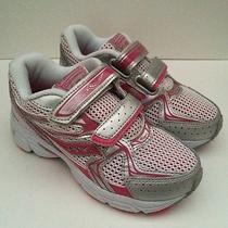 New Saucony Cohesion 6 Hl Pink/silver Girls Athletic Shoes Size 2w Photo