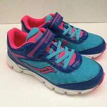 New Saucony G Varana Ac Blue/pink Girls Athletic Shoes Size 1m Photo