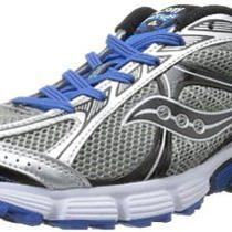 New Saucony Mens Ignition 4 Running Shoe Silver/black/royal 10.5 M Us Photo