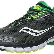 New Saucony Mens Ride 6 Running Shoe Grey/green/citron 10 M Us Photo