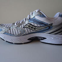 New Saucony Progrid Jazz 13 Women Mesh Running Shoes White Silver Sky Blue S 7.5 Photo