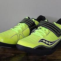 New Saucony Unleash Sd Shot Put Discus Hammer Throw Shoes Black Citron Size 10 Photo