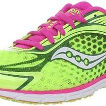 New Saucony Womens Type A5 Running Shoe Citron/pink 8.5 M Us Photo