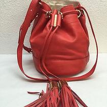 New See by Chloe 'Vicki' Orange Leather Small Bucket Bag Photo