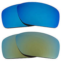 New Seek Replacement Lenses for Oakley Sunglasses Canteen Blue Green Mirror Sale Photo