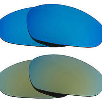 New Seek Replacement Lenses for Oakley Sunglasses Juliet Green Blue Mirror Sale Photo