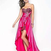 New Sequin & Satin Formal Prom Dress by Blush  Xs Photo