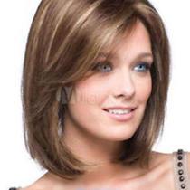 New Sexy Women's Ladies Short Mix Natural Hair Full Wigs Gift Photo