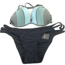 New Shade & Shore Mossimo Bikini Set 34dd Large Cheeky Blue Black Green  204 Photo