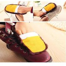 New Shoe Boot Care Shining Buffing Brush for Leather Polisher Cleaning Glove Sm Photo