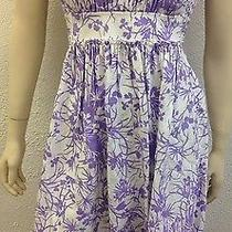 New Shoshanna Strapless Purple Floral Summer Dress Photo