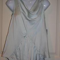 New Simply Vera Vera Wang Womens Lt Blue Sleeveless Top Shirt Pxs Petite Xsmall Photo