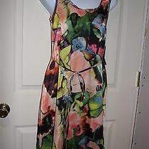 New Simply Vera Vera Wang Womens Multi Color Knee Length Dress Pxs Petite Xsmall Photo