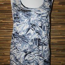 New Simply Vera Wang Blue/gray Multicolor Print Sleeveless Top Medium Photo