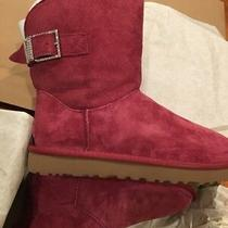 New Size 7 Red/pink Ugg Australia Remora Buckle Boots 1092709 W/gar Water Resis Photo