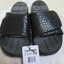 New Skechers 53921 Bbk Black Gobionic Slide on Sandals Shoe Flip Flops Men Sz 11 Photo
