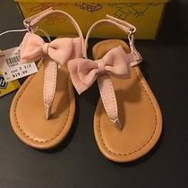 New Smart Fit Girls' Toddler Mila Bow Sandals Blush Pink Size 7.5 Easter Spring Photo