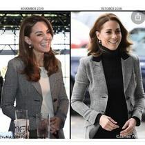 New Smythe Check Black White Blazer Duchess  One Button Jacket Size 40 Usa 4 Photo
