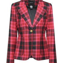 New Smythe Fuchsia One Button Duchess Blazer Jacket Size 44 46 Photo