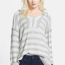 New Soft Joie Sweater Markham Knit Hoodie Size S Dolphin Grey Photo