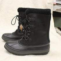 New Sorel 1964 Pac T Leather Insulated Waterproof Winter Boots Black Men's 13 Photo