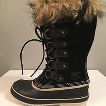 New Sorel Joan of Arctic Boots Women Black Insulated Waterproof Winter Leather  Photo