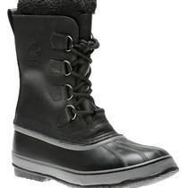 New Sorel Men's 1964 Pac T Waterproof Leather Insulated Black Boots 14 Photo
