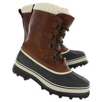 New Sorel Men's Caribou Wl Waterproof Insulated Tobacco Leather Rubber Boots 9 Photo