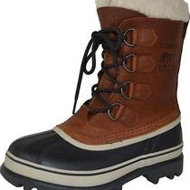 New Sorel Women's Caribou Waterproof Insulated Leather & Rubber Brown 10 Photo
