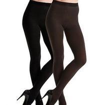 New Spanx 005b Tight End Reversible Tights Pantyhose Shaper Black/brown E Photo