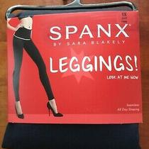 New Spanx Look at Me Now Leggings Port Navy A278531 Shape-Wear Size 1x Nwt Photo