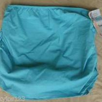 New Spanx Love Your Assets Shaping Slimming Aqua Rouched Skirtini (Size S 4-6) Photo