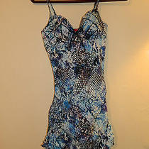 New Spanx Python Blue Nile Bra Llelujah Swimdress  Tank  Size 6 B/c Photo